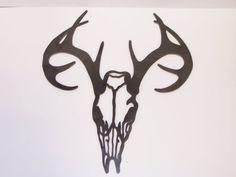 Metal+Deer+Skull+by+ChippewaHillsDesigns+on+Etsy,+$30.00