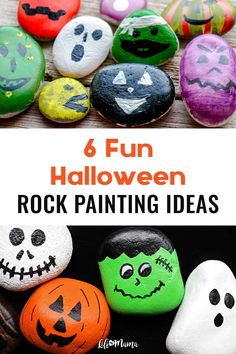 Painting rocks is a wonderful craft for kids. These Halloween painted rock ideas will be the perfect way to spook up your home this coming October! | #lifeasmama #paintedrocks #halloween #rockpainting #painting #crafts #kidscrafts #holiday #boo #spooky #kids Halloween Activities For Kids, Holiday Crafts For Kids, Halloween Crafts For Kids, Diy Halloween Decorations, Fall Crafts, Diy Crafts For Kids, Craft Ideas, Halloween Rocks, Halloween 2020