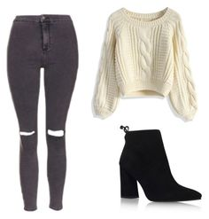 A fashion look from June 2016 featuring crop tops, distressed skinny jeans and heeled booties. Browse and shop related looks. Stuart Weitzman, Cool Style, Black Jeans, Topshop, Cute Outfits, Fashion Outfits, Shoe Bag, Clothing, Polyvore