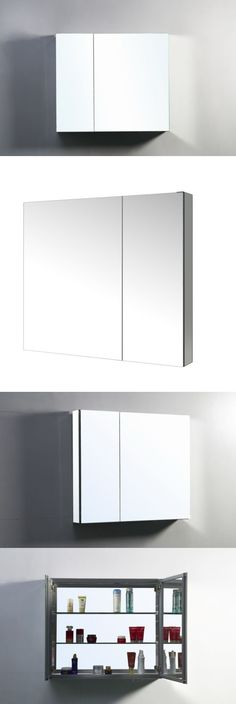 Medicine Cabinets 176991: Confiant 30 Luxury Mirrored Medicine Cabinet Recessed Or Surface Mounted Mirror -> BUY IT NOW ONLY: $162.75 on eBay!
