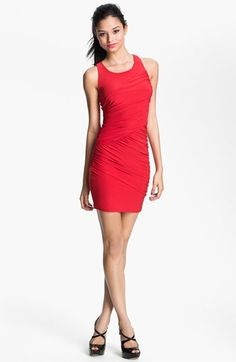 Soprano Cutout Racerback Body-Con Dress (Juniors) (Online Exclusive) $48.0 by nordstrom