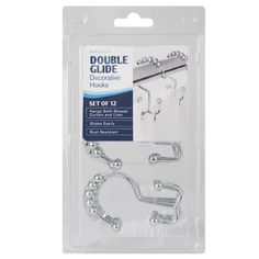 Amazon.com: Maytex Mills Metal Double Glide Shower Ring, Brushed Nickel, 12 Count: Home & Kitchen