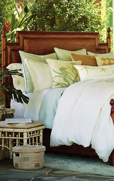 Inspired by the finer points of coastal living, the Chesapeake Bedding collection was designed as the perfect set for sleeping with the French Doors open.