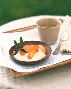 This pudding is delicious with almost any fruit. Substitute fresh peach or apricot wedges for the nectarines, or serve with a warm fruit compote or stewed fruit.