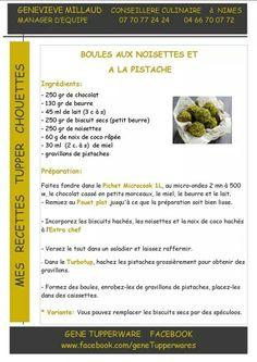 Tupperware - Boules aux noisettes et pistaches
