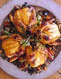 cornish game hens with wild rice/mushroom stuffing