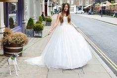 Becky Dress  #beckydress #elizabethtodd #bridal #romantic #wedding #vintage #chilternst #dog