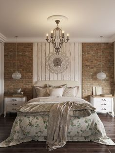 Beautiful Bedroom Wallpaper Decorating Ideas For Your Dream Room Brick Wall Bedroom, Brick Accent Walls, Faux Brick Walls, Accent Wall Bedroom, Brick Interior, Interior Design, Home Decor Bedroom, Bedroom Ideas, My New Room