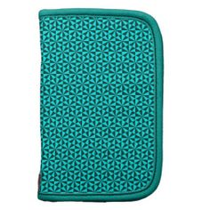 Cyan and teal triangles pattern planner