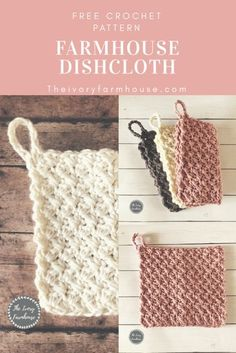 Learn how to crochet a dishcloth to suit your farmhouse style with this free crochet pattern. Perfect for the new crocheter!