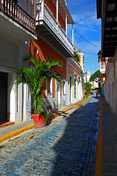 Puerto Rico .. I love the way the streets look and the buildings