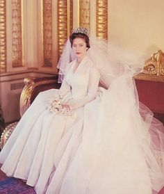 Princess Margaret on her Wedding Day, 6 May 1960.