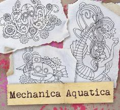 Mechanica Aquatica (Design Pack) | Urban Threads: Unique and Awesome Embroidery Designs $3.00