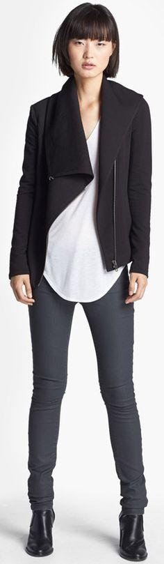 HELMUT Helmut Lang Sweatshirt Tee Skinny Jeans