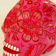 Pedro Daniel Linares Paper Mache Skulls, Medium-Small