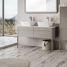 Signite Floor Standing Bathroom Vanity Unit Grey 1200mm: Amazon.co.uk: Kitchen & Home