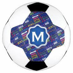 Fun 100th Birthday Party Personalized Monogram Soccer Ball - birthday gifts party celebration custom gift ideas diy