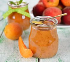 Peach-ginger coulis
