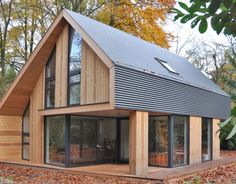 Rest House, Tiny House Cabin, Tiny Cabins, Log Cabins, Modern Barn House, Modern House Design, Architecture Design, Architecture Geometric, System Architecture