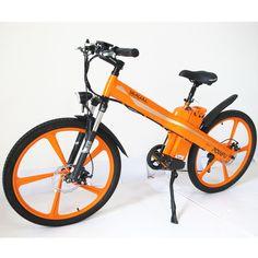 Orange Electric Bicycle E Bike W V Li Ion Battrey Magnesium Pedal Moped