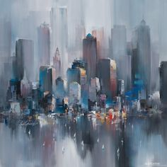 New York Heights - 0017, Wilfred Lang. Painting and limited-edition fine art print on canvas.