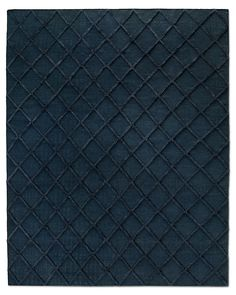 Bedroom rug??? Diamante Flatweave Linen Rug - Navy/Navy