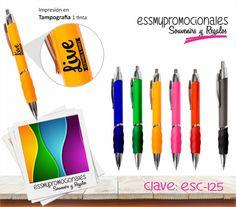 Bolígrafo retráctil con grip de colores con clip plata Tamaño: 14x1.3cm
