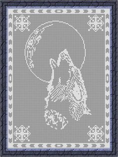 Looking for your next project? You're going to love Filet Crochet Chart-Wolf by designer Viktoria-Lyn. - via @Craftsy