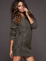 can't go wrong with a sweater dress, although I think it needs tights