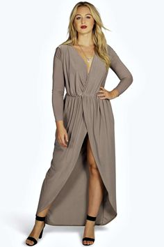 boohoo slinky zoe dress mocha plus size