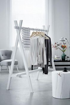 48 Creative DIY Clothes Rack Design Ideas - Page 14 of 47 - Best Home Decorating Ideas