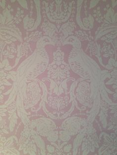 'Pava Bird - Lavender' Hand Blocked Wallpaper, Watts of Westminster