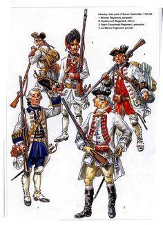 Infantry Seven Years War Bresse Regt Sergeant