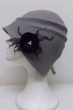 Sombrero estilo años 20 vintage de fieltro de por LidiaArtThings