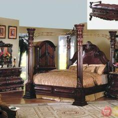 Margaret King Poster Canopy Bed 5 Piece Bedroom Set