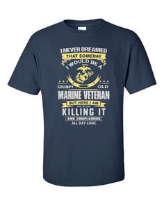 USMC Grumpy Veteran: Short sleeve t-shirt