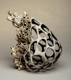 Jenni Ward ceramic sculpture | nest series