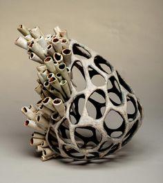 Jenni Ward ceramic sculpture | nest series