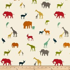 Birch Organic Serengeti The Tribe from @fabricdotcom  Designed by Jay-Cyn for Birch Organic Fabric, this GOTS certified organic cotton print fabric is perfect for quilting, apparel and home décor accents. Colors include orange, coral red, pool green, mustard, teal blue, green and cream.
