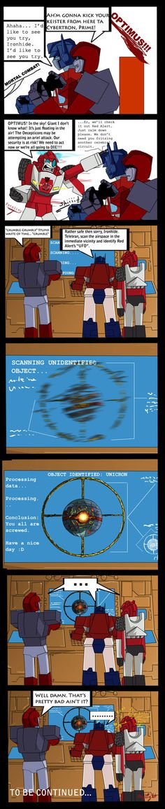 Impending Doom pt.1 by Shy-Light on DeviantArt Aww, Red Alert is glitching . . . poor mech