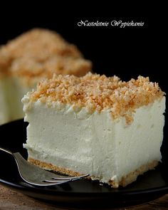 Polish Desserts, Polish Recipes, Cookie Desserts, No Bake Desserts, Cheesecake, Delicious Deserts, Dessert For Dinner, Recipes From Heaven, Tray Bakes