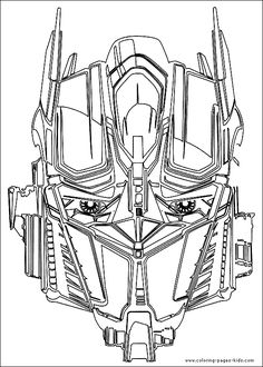 Free coloring pages for Transformers party