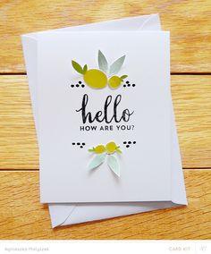 hello card by Agnieszka