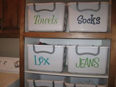 One day when I finally have a laundry room!! Cricut Vinyl Project - Laundry Baskets