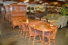 Ethan Allen Maple Mid-Century Dining Room Set