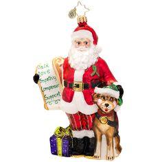 Radko Mental Illness Charity Santa Ornament