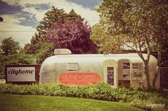 The Creative Capsule is a mobile art studio made from a refurbished Airstream trailer, offering a creative space at kids' parties.