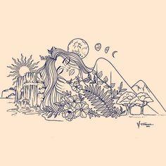 Beach Illustration, Smart Art, Tarot Cards, Trippy, Art Inspo, Art Projects, Waves, Paintings, Fantasy