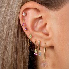 Ear Jewelry, Cute Jewelry, Body Jewelry, Jewlery, Unique Ear Piercings, Cute Piercings, Chain Earrings, Cute Earrings, Helix Earrings