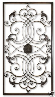 Horchow Old World Tuscan Iron Scroll Wall Panel Grill | eBay